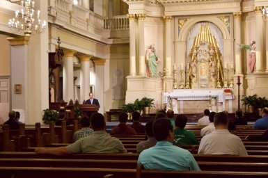 They attended Mass at St. Louis Cathedral celebrated by Archbishop Emeritus, Alfred Hughes.