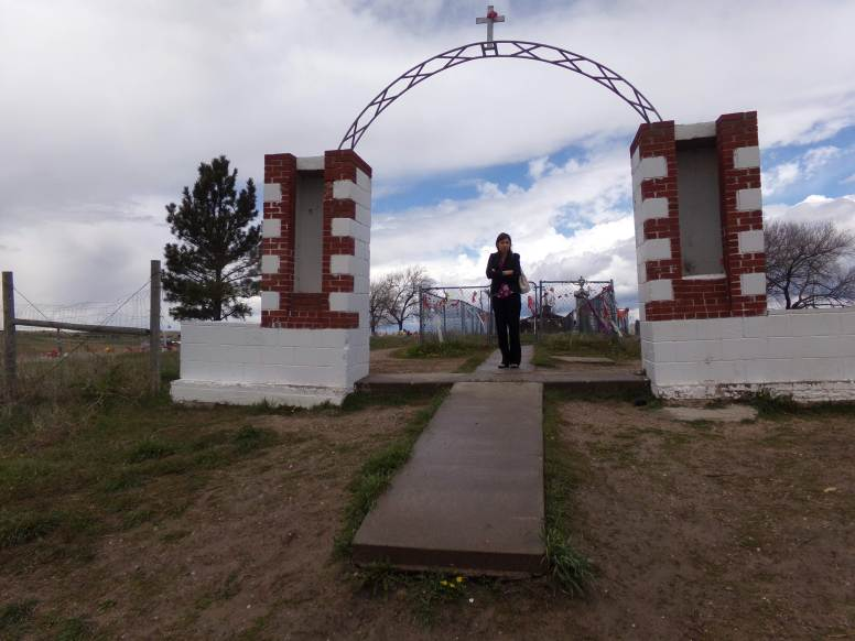 Dr. Miller and David visited the site of the Wounded Knee Massacre, where they prayed for the lives lost.