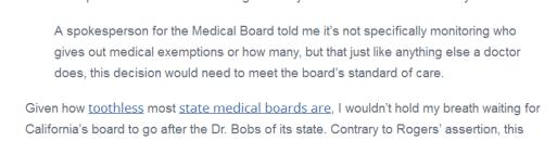 Medical board criticism