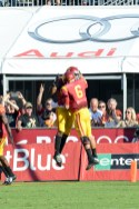 Trojans quarterback Cody Kessler celebrates after throwing a touchdown. Kevin Song   The Observer.
