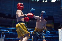 Joe Guilfoile (gold) vs. Pete McGinley (blue). Michael Yu   The Observer