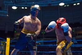 Tyler Plantz (blue) vs. Jackson Wrede (gold). Michael Yu | The Observer