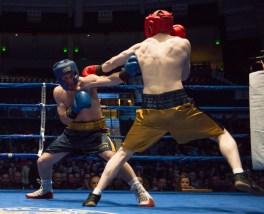 Garrity McOsker (blue) vs. Ryan Dunn (gold). Michael Yu   The Observer