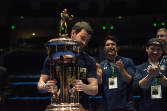 Garrity McOsker receives the award given to the best boxer of the tournament. Michael Yu | The Observer