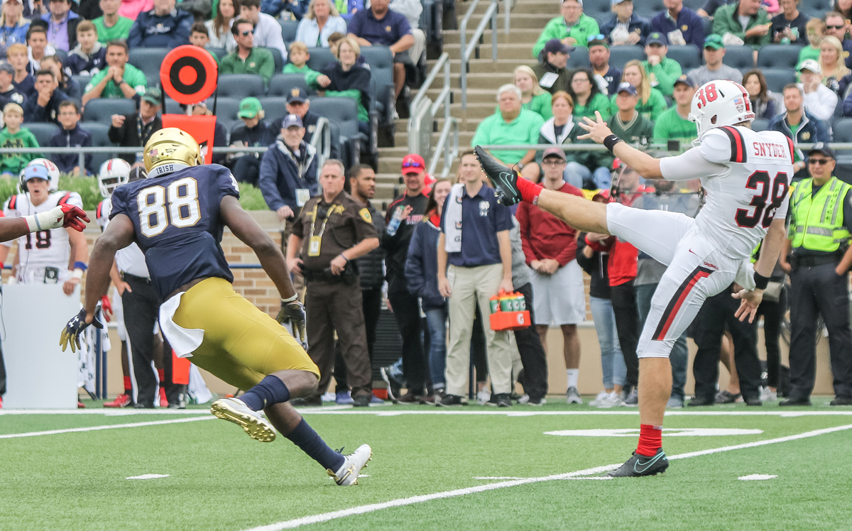 Notre Dame receiver Javon McKinley charged in campus officer assaults