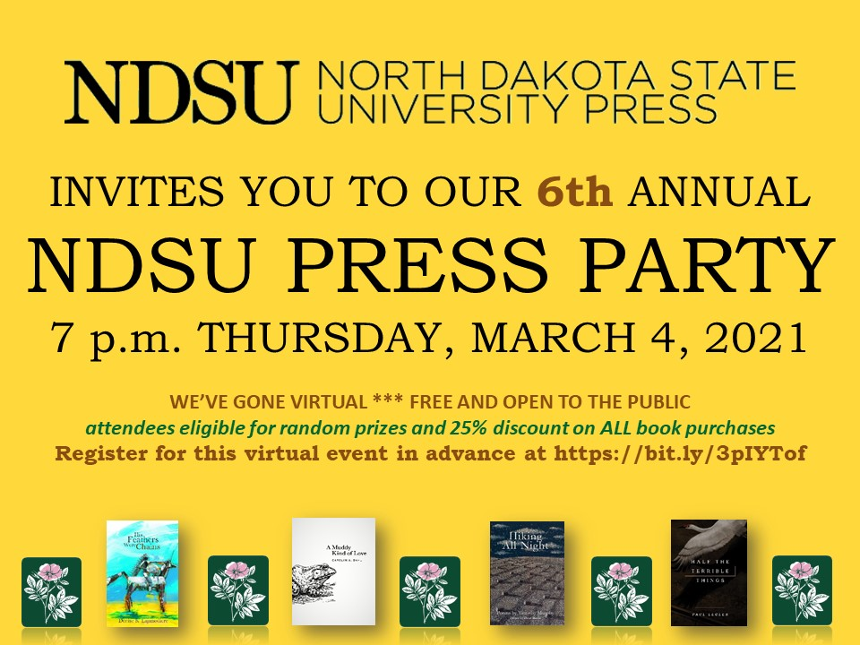 NDSU Press Party Flier