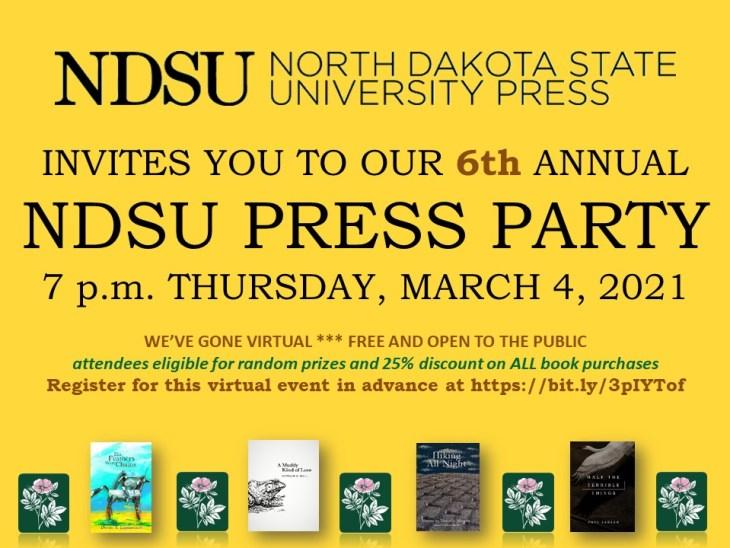 NDSU Press Party Flier