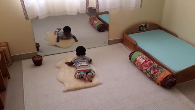 Applying Montessori Principles from Birth Month 4