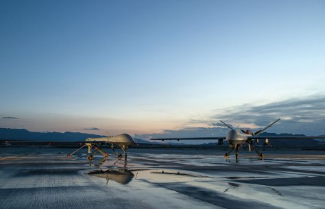 MQ-1 Predator and MQ-9 Reaper assigned to 432nd Aircraft Maintenance Squadron provided intelligence, surveillance, and reconnaissance, especially during Operations Iraqi Freedom and Enduring Freedom (U.S. Air Force/Vernon Young, Jr.)
