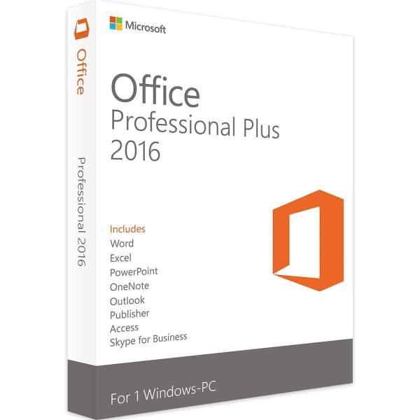 Microsoft Office 2016 Professional Plus For Windows - MICROSOFT