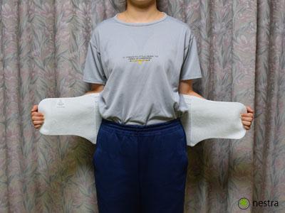 腰痛予防コルセット着け方1