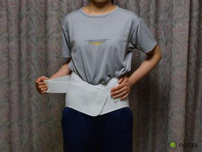 腰痛予防コルセット着け方5