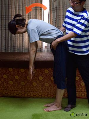 仙腸関節性腰痛-サポーテッドアダムポジション3