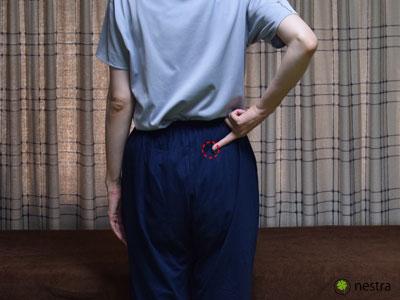 仙腸関節性腰痛-ワンフィンガー