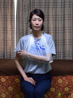 三角巾-巻き方レジ袋6