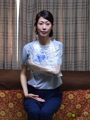三角巾-巻き方レジ袋7