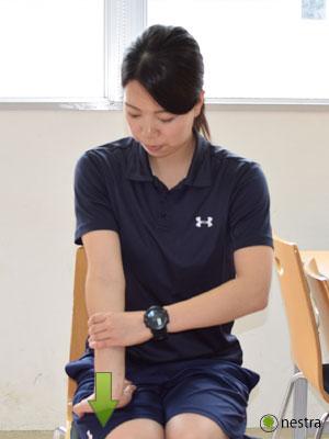 手の腱鞘炎-コンプレッションストレッチ7-2