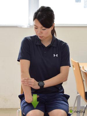手の腱鞘炎-コンプレッションストレッチ3-2