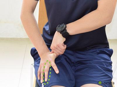 手の腱鞘炎-水掻きストレッチ4-2