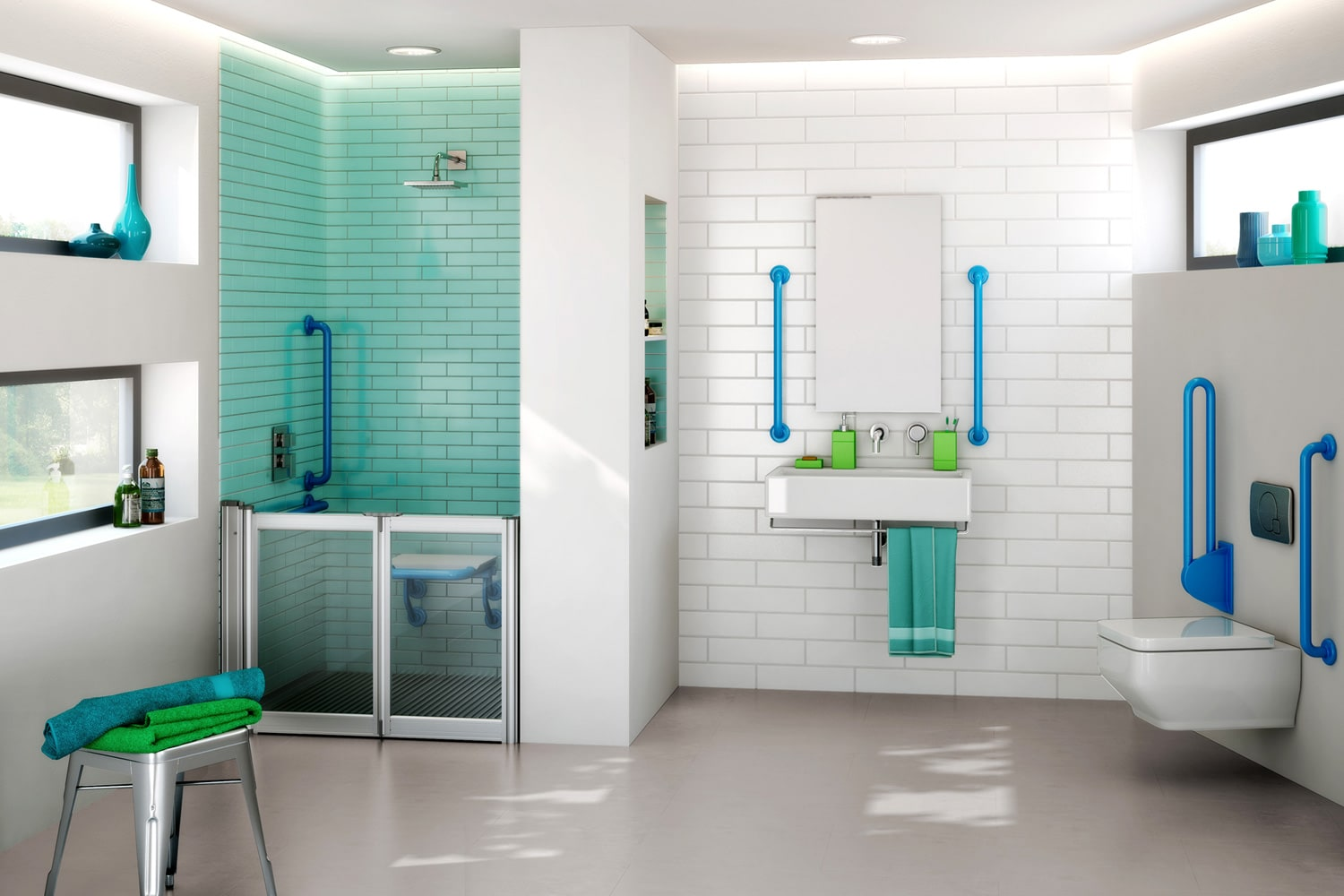 Level access showers  Safe and practical solutions