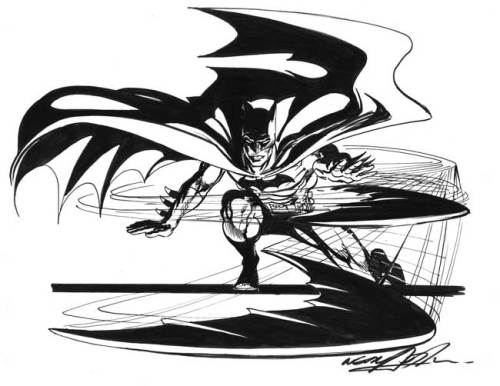 Neal Adams - Batman - Batarang - Original Inks