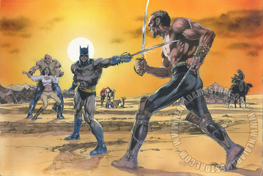 Neal Adam - Batman vs Ras Al Ghul