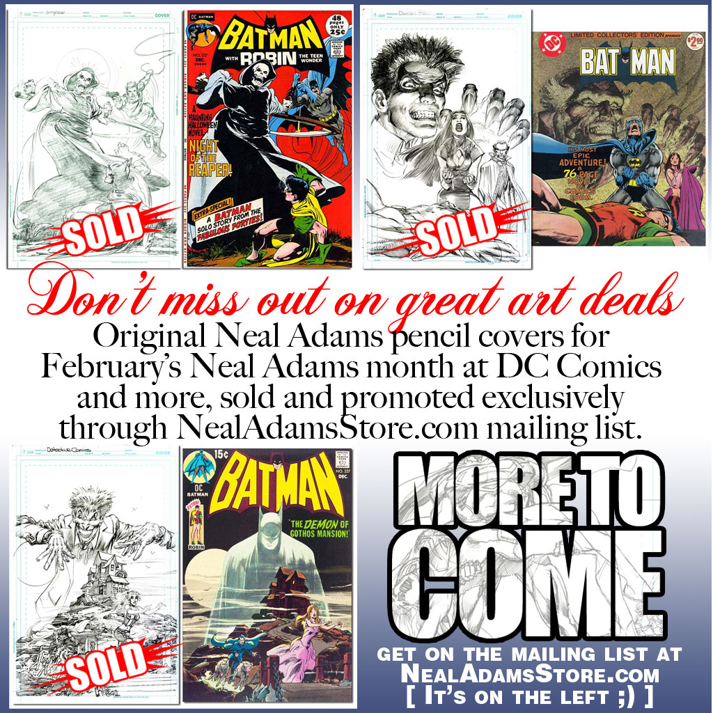 Join the NealAdamsSrore.com mailing list