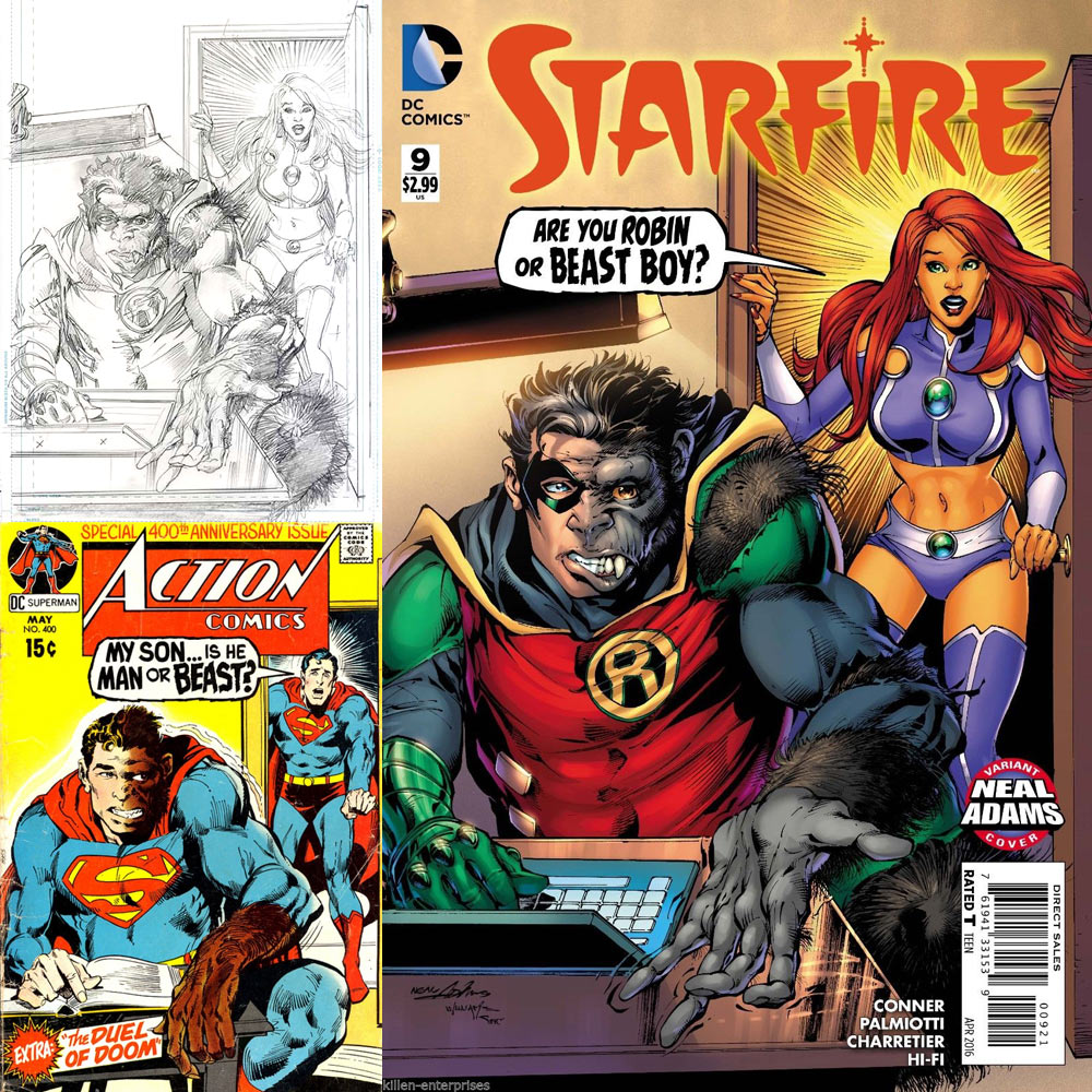 Neal Adams Month Variant Cover - Starfire 9 - inks by Scott Willians