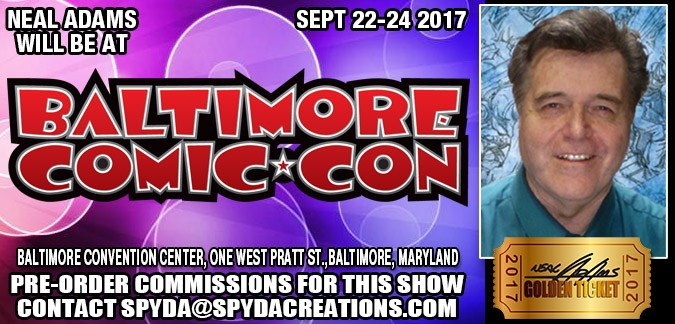 Neal Adams will be at Baltimore Comic Con