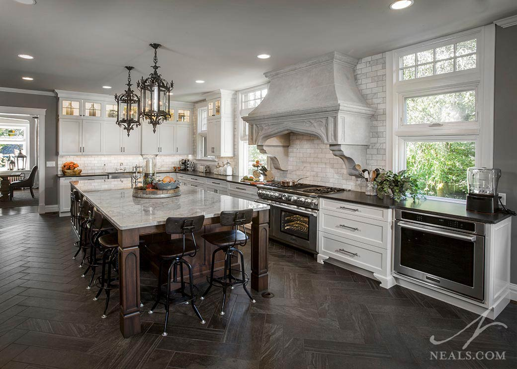 Gothic Traditional Kitchen  Neals Design  Remodel