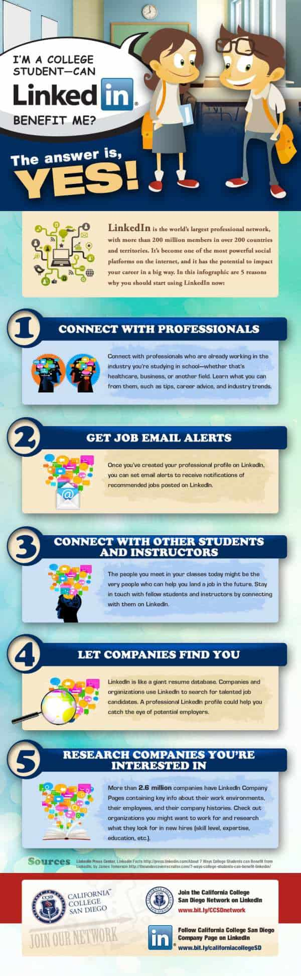 How College Students Can Utilize LinkedIn #infographic