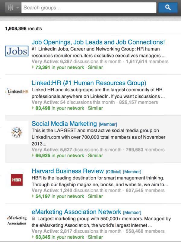 almost two million linkedin groups