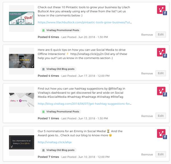 viraltag screenshot recycle content