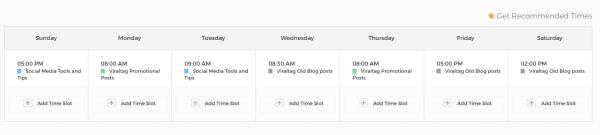 linkedin posting schedule viraltag screenshot