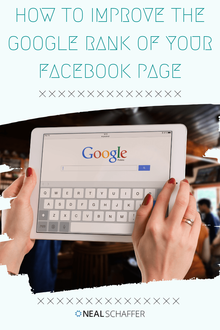 If you don't have a website for your business, what do you do? If you want to improve your Google rank what do you do? Optimize your Facebook page.