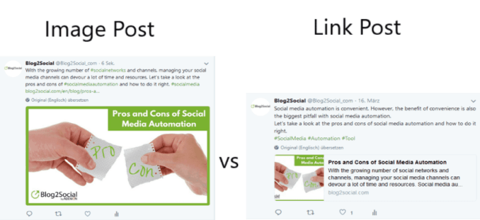 Twitter rules: custom post formats: image post vs. link post
