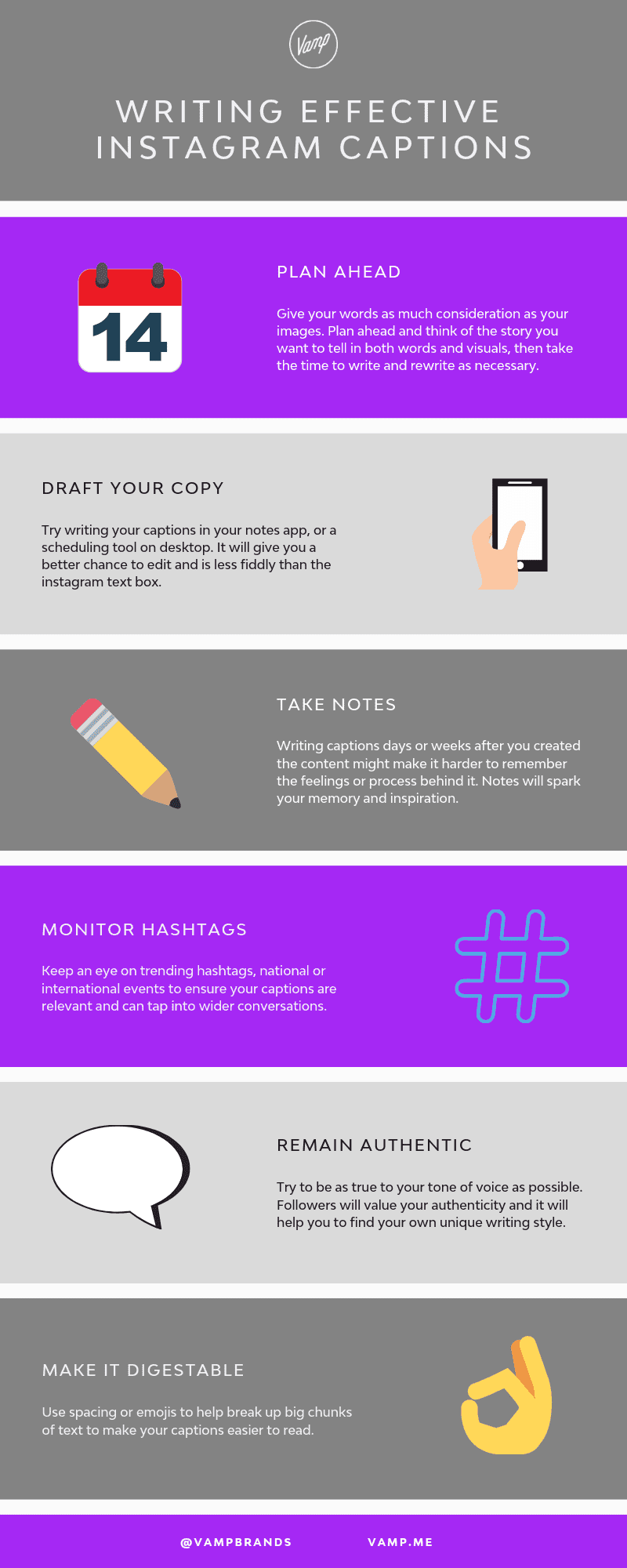 Here's a few more tips for writing effective Instagram captions, in this infographic.