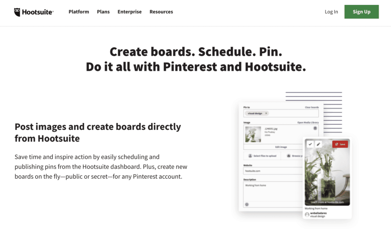 hootsuite for pinterest