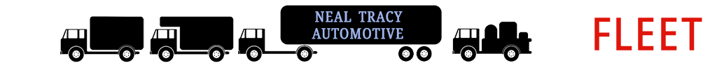 illustrated small truck side with text Neal Tracy Automotive