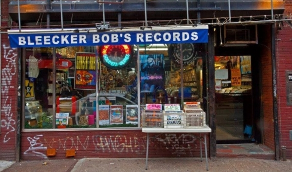 Ever seen anything like this photo of Bleecker Bob's record store in Greenwich Village?