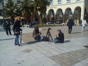 Ρεπορτάζ στην πλατεία Αριστοτέλους