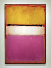 White Center (Yellow, Pink and Lavender on Rose), 1950