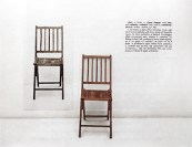 One and three chairs, J. Kosuth, 1965