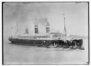 The Leviathan transported the first large group of Near East Relief volunteers in Feb. 1919. Image courtesy of the Library of Congress, Bain Collection.