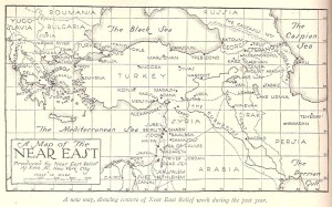 Map of Near East Relief activities, 1924-1925