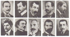 Prominent Armenians arrested from Constantinople on April 24, 1915.