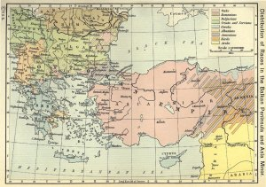 Map of the Balkans and Asia Minor
