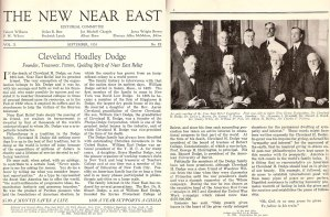 Cleveland Hoadley Dodge with other Near East Relief committee members.