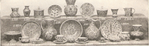 A collection of ceramics that are made by the displaced Armenians and with the help of the Near East Relief.