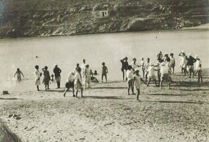 The children from Syra Orphanage enjoy a day at the beach at nearby Camp Vari.